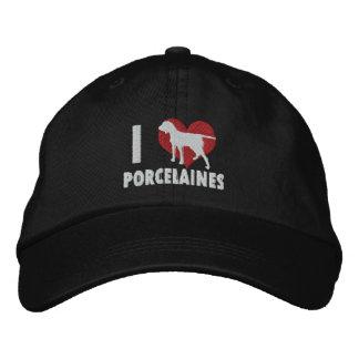 I Love Porcelaines Embroidered Hat (Dark)