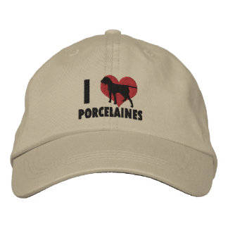 I Love Porcelaines Embroidered Hat