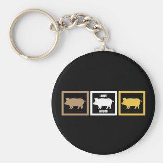 I Love Pork Adobo Key Chain