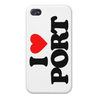 I LOVE PORT CASE FOR iPhone 4