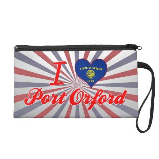 I Love Port Orford, Oregon Wristlet Purses