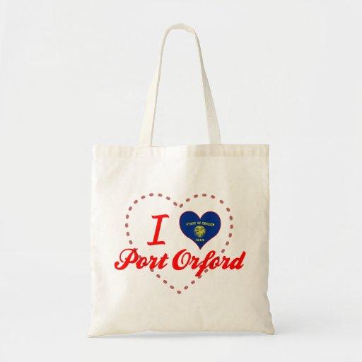I Love Port Orford, Oregon Tote Bag