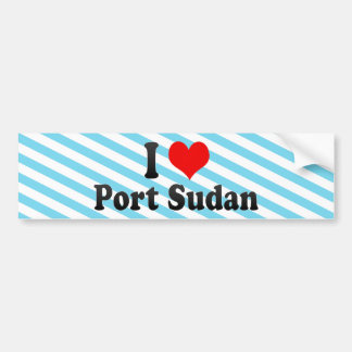 I Love Port Sudan, Sudan Bumper Sticker