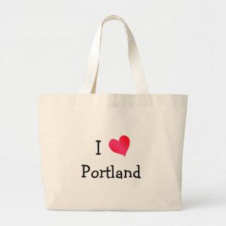 I Love Portland Jumbo Tote Bag