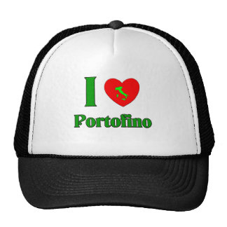 I Love Portofino Italy Trucker Hat