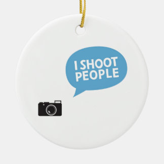 I Love Portrait Photography Christmas Ornament