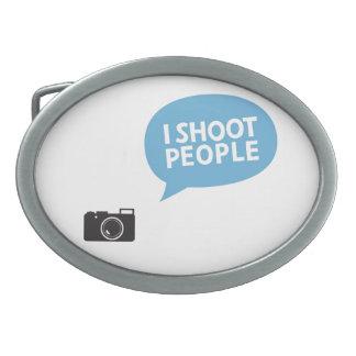I Love Portrait Photography Oval Belt Buckles