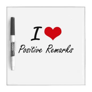 I Love Positive Remarks Dry Erase Boards
