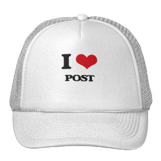 I Love Post Trucker Hat