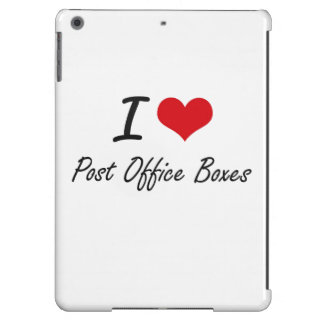 I Love Post Office Boxes iPad Air Cases