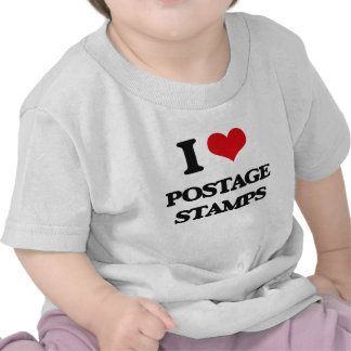 I Love Postage Stamps Tshirts