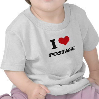 I Love Postage T Shirts