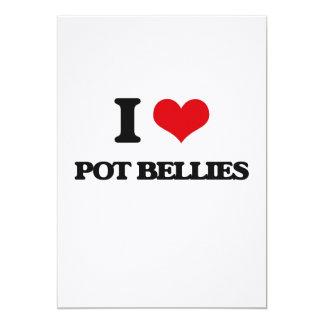 I love Pot Bellies 13 Cm X 18 Cm Invitation Card