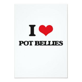 I love Pot Bellies 5x7 Paper Invitation Card