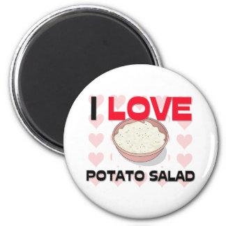 I Love Potato Salad 6 Cm Round Magnet
