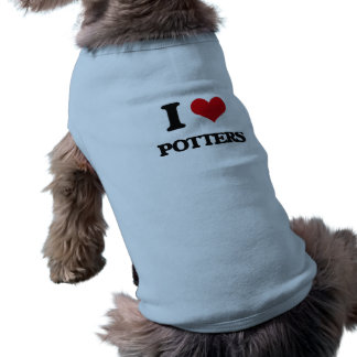 I Love Potters Sleeveless Dog Shirt