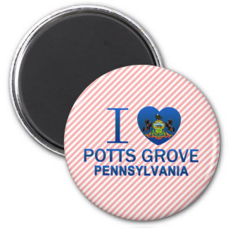 I Love Potts Grove, PA Refrigerator Magnet