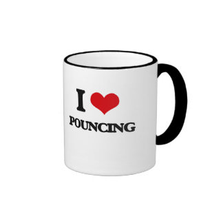 I Love Pouncing Ringer Coffee Mug