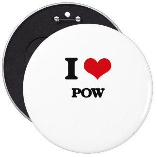 I Love POW Pinback Buttons
