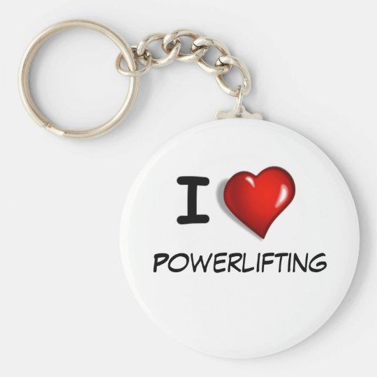 I love Powerlifting Key Ring