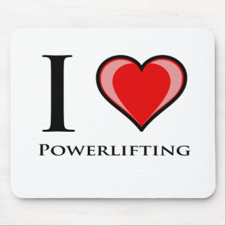 I Love Powerlifting Mouse Pads
