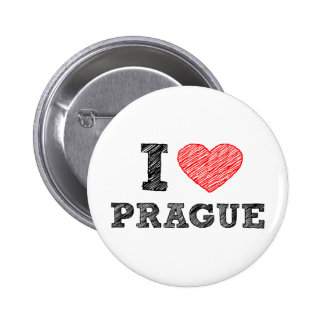I Love Prague 6 Cm Round Badge