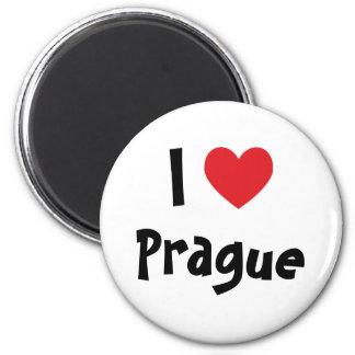 I Love Prague 6 Cm Round Magnet