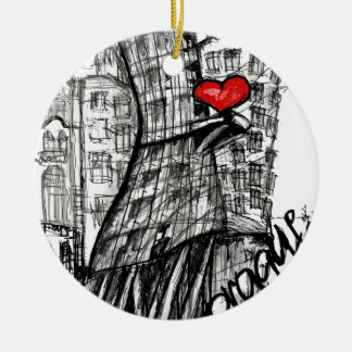 I love Prague Christmas Ornament