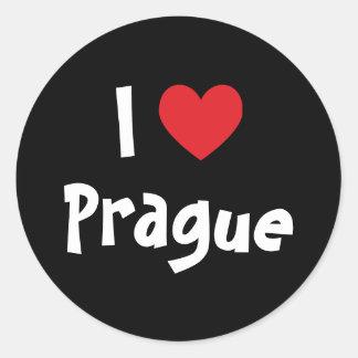 I Love Prague Classic Round Sticker