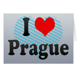 I Love Prague, Czech Republic Card