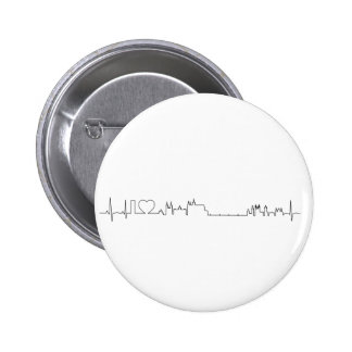I love Prague (ecg style) souvenir 6 Cm Round Badge