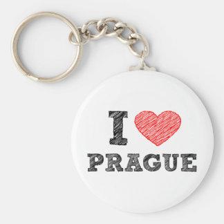 I Love Prague Key Ring