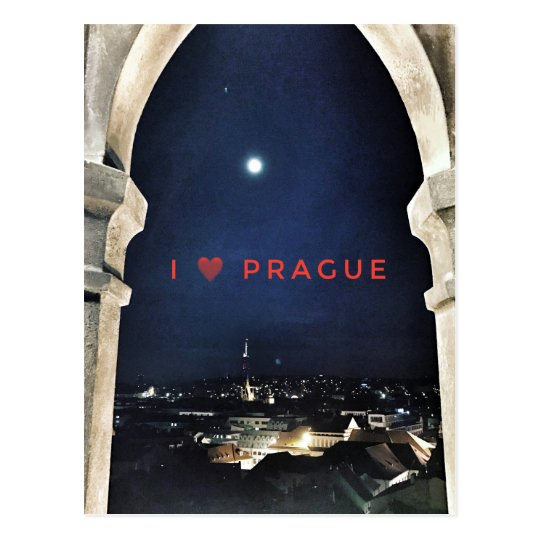 I love Prague Postcard
