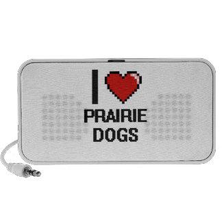 I love Prairie Dogs Digital Design Mini Speaker