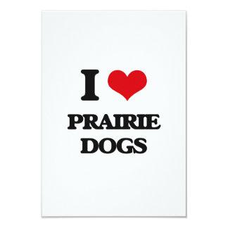I love Prairie Dogs 3.5x5 Paper Invitation Card