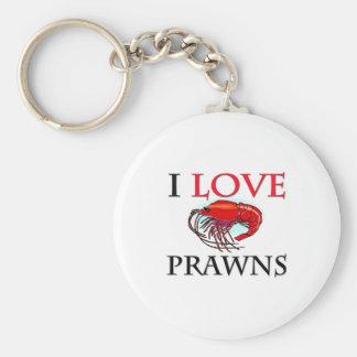 I Love Prawns Key Ring