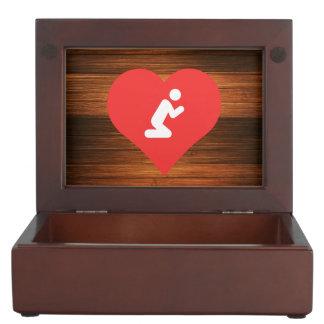 I Love Praying Cool Symbol Memory Box
