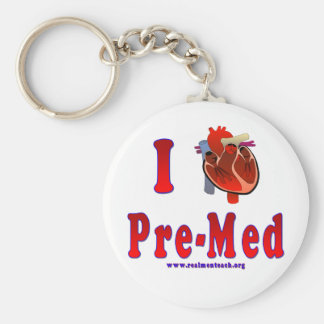 I Love Pre Med Key Ring