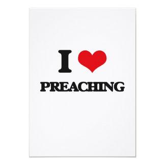 "I Love Preaching 5"" X 7"" Invitation Card"