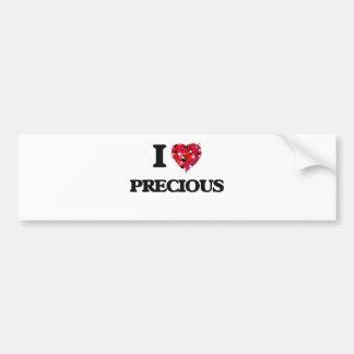 I Love Precious Bumper Sticker