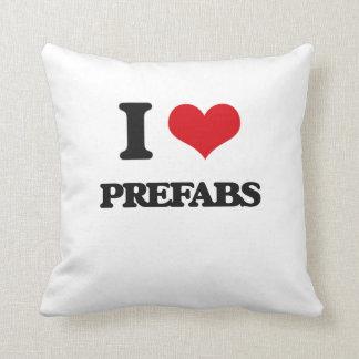 I Love Prefabs Throw Pillows