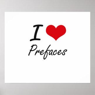 I Love Prefaces Poster