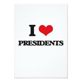I love Presidents 13 Cm X 18 Cm Invitation Card