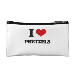 I Love Pretzels Cosmetic Bags