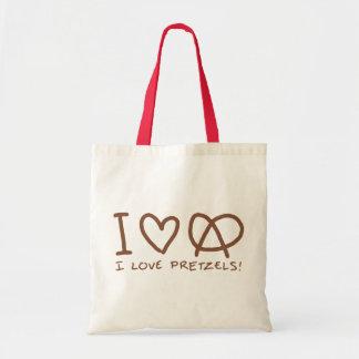 I Love Pretzels Budget Tote Bag