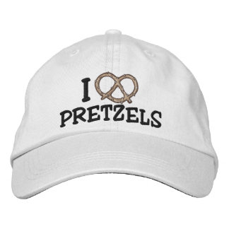 I Love Pretzels Embroidered Cap Embroidered Baseball Caps