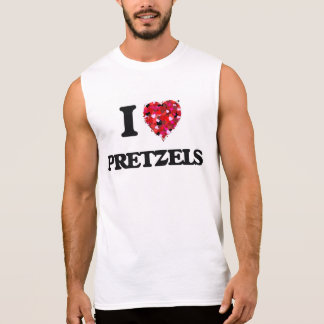 I Love Pretzels food design Sleeveless Tees
