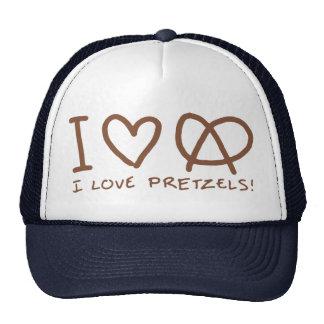 I Love Pretzels Hats