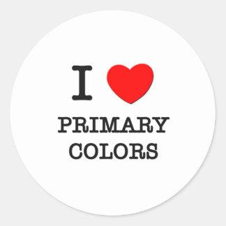 I Love Primary Colors Sticker