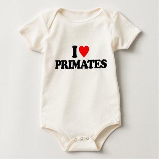 I LOVE PRIMATES BABY CREEPER